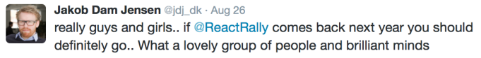 React Rally4 Tweet